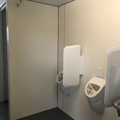 Trespa wanden sanitair